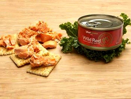 wild red canned salmon
